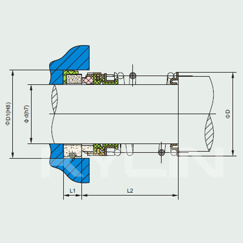 Type 1 mechanical seal drawing